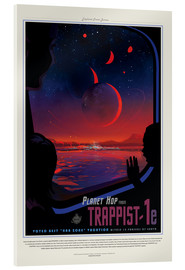 Akrylbillede  Retro Space Travel ? TRAPPIST-1e
