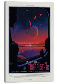 Lærredsbillede  Retro Space Travel ? TRAPPIST-1e