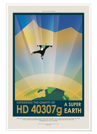 Premium-plakat Retro Space Travel – HD 40307 g