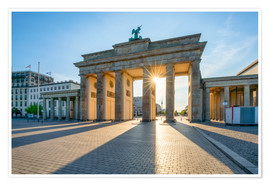 Premium-plakat  The Brandenburg Gate in Berlin - Jan Christopher Becke