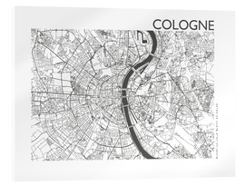 Akrylbillede  City map of Cologne - 44spaces