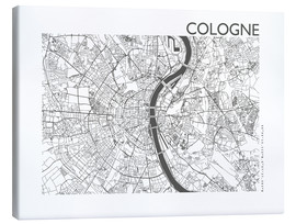 Lærredsbillede  City map of Cologne - 44spaces