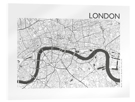 Akrylbillede  City map of London - 44spaces