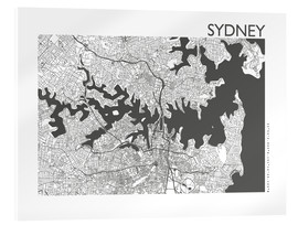 Akrylbillede  City map of Sydney - 44spaces