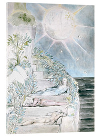 Akrylbillede  Dante and Statius sleep - William Blake