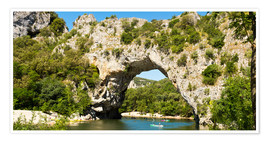 Premium-plakat The stone bridge Pont-d'Arc over the river Ardèche
