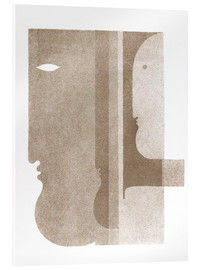 Akrylbillede  Two Profiles to the Left, One to the Right - Oskar Schlemmer