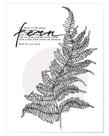 Premium-plakat Wait for your time like a Fern