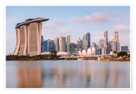 Premium-plakat  Singapore skyline at sunrise - Matteo Colombo