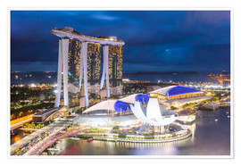 Premium-plakat  Luxury hotel Marina Bay Sands, Singapore - Matteo Colombo