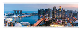 Premium-plakat  Singapore skyline panoramic at sunset - Matteo Colombo