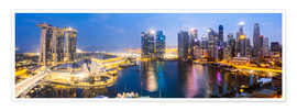 Premium-plakat  Singapore skyline panoramic - Matteo Colombo