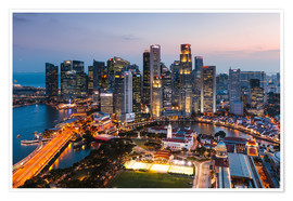 Premium-plakat  Singapore skyline at sunset - Matteo Colombo