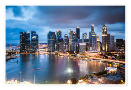 Premium-plakat  Singapore skyline at dusk - Matteo Colombo