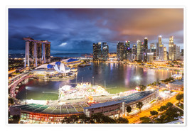 Premium-plakat  Singapore skyline and Marina Bay Sands - Matteo Colombo