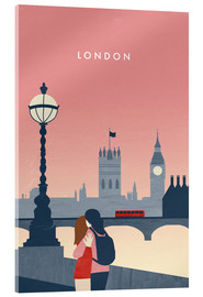 Akrylbillede  Illustration London - Katinka Reinke
