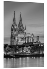 Akrylbillede  Cologne Cathedral black-and-white - Michael Valjak