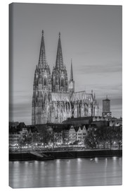 Lærredsbillede  Cologne Cathedral black-and-white - Michael Valjak