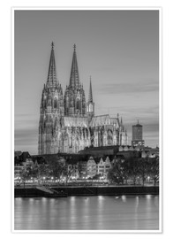 Premium-plakat Cologne Cathedral black-and-white