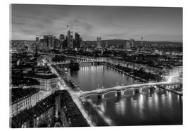 Akrylbillede  Frankfurt skyline black-and-white - Michael Valjak