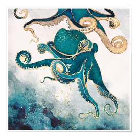 Premium-plakat  Octopus, Underwater Dream V - SpaceFrog Designs