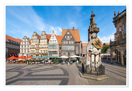 Premium-plakat  Historic Market Square in Bremen with Roland Statue - Jan Christopher Becke