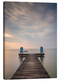 Lærredsbillede  Jetty on the Baltic Sea (1) - Heiko Mundel
