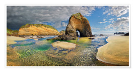 Premium-plakat Wharariki beach, New Zealand