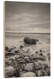 Print på træ  Granite in the Baltic Sea (long exposure) - Heiko Mundel