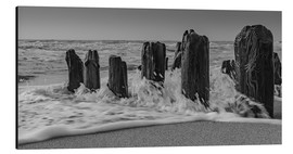 Print på aluminium  Groyne with waves - Heiko Mundel