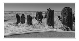Premium-plakat  Groyne with waves - Heiko Mundel
