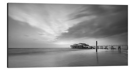 Print på aluminium  54Brad beach bar in St.Peter-Ording (long exposure) - Heiko Mundel