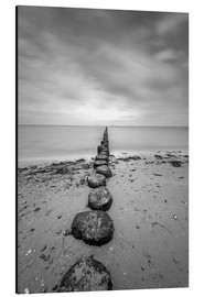 Print på aluminium  Groyne on Rügen (long exposure) - Heiko Mundel