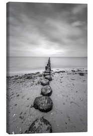 Lærredsbillede  Groyne on Rügen (long exposure) - Heiko Mundel