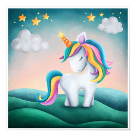 Premium-plakat Cute unicorn