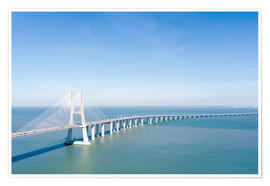 Premium-plakat Vasco da Gama bridge to Lisbon