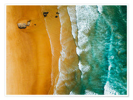 Premium-plakat Turquoise ocean waves and tropical sand beach