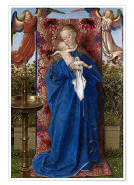 Premium-plakat Madonna with child at the well