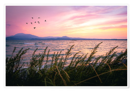 Premium-plakat Lake Garda Sunrise