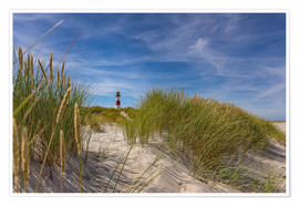 Premium-plakat  Lighthouse List / East with dune - Heiko Mundel