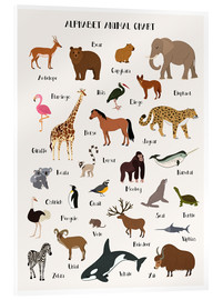 Akrylbillede  Alphabet animal chart - Kidz Collection