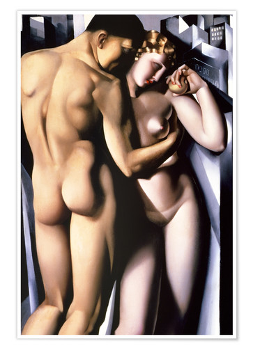 Premium-plakat Adam and Eve