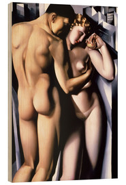 Print på træ  Adam and Eve - Tamara de Lempicka