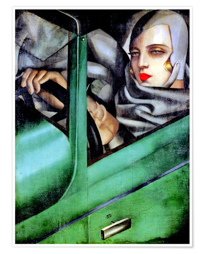Premium-plakat Autoportrait (Self-Portrait in a Green Bugatti)