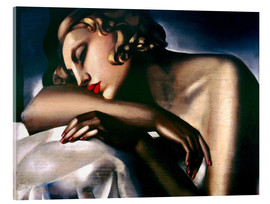 Akrylbillede  The sleeping girl - Tamara de Lempicka