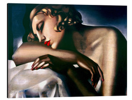 Print på aluminium  The sleeping girl - Tamara de Lempicka