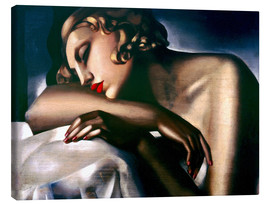 Lærredsbillede  The sleeping girl - Tamara de Lempicka