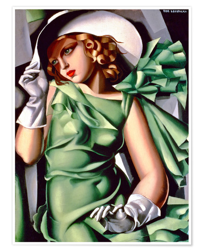 Premium-plakat Young lady with gloves