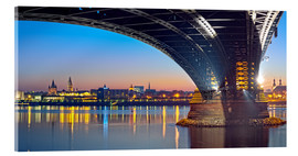 Akrylbillede  Mainz Germany  with rhine bridge - Fine Art Images